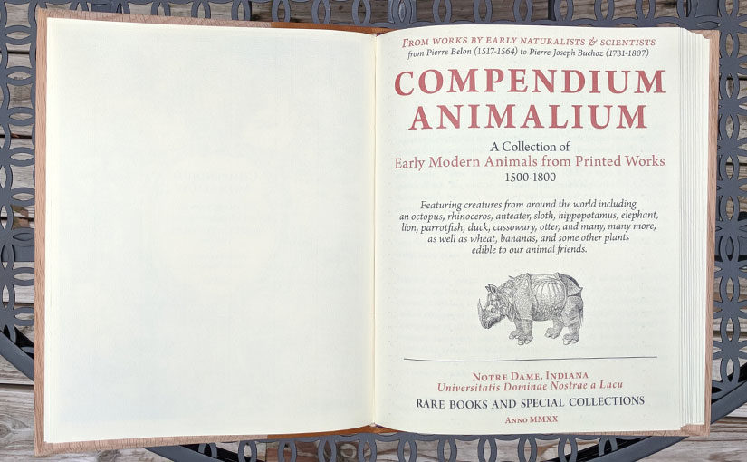 Compendium Animalium: (Re)creating an Early Modern Book