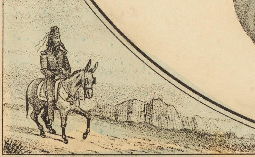 An Early Civil War Caricature of Jefferson Davis