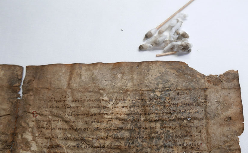 Preparing a Parchment Fragment for Posterity
