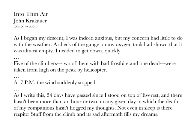 into thin air excerpt pdf