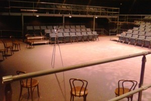 Vanderbilt's thrust stage allowed audience on three sides.
