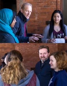Michael Palmer (top) and Charlie Armstrong (bottom) lead an AFTLS workshop at Vassar College with Exploring College students.(photos by Ben Liu '15, Vassar College)