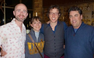 Pictured L-R: AFTLS directors Paul O'Mahoney, Alinka Wright, Roger Lawrence with Leigh Selting, Professor and Chair of the Department of Theatre and Dance at the University of Wyoming.