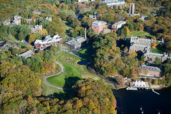 Aerial photo of Wellesley College