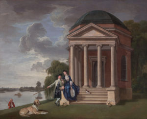 David Garrick and his Wife by his Temple to Shakespeare at Hampton, Johan Zoffany, c. 1762