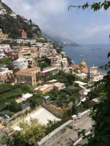 The view of Positano from about halfway up the mountain.