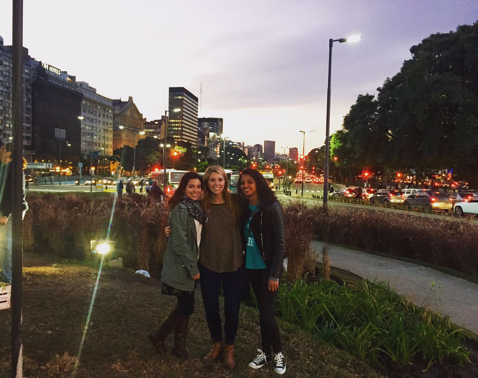 Alexa, Jaimee and me in downtown Buenos Aires