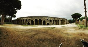 Pompeii's amphitheater written about by Tacitus