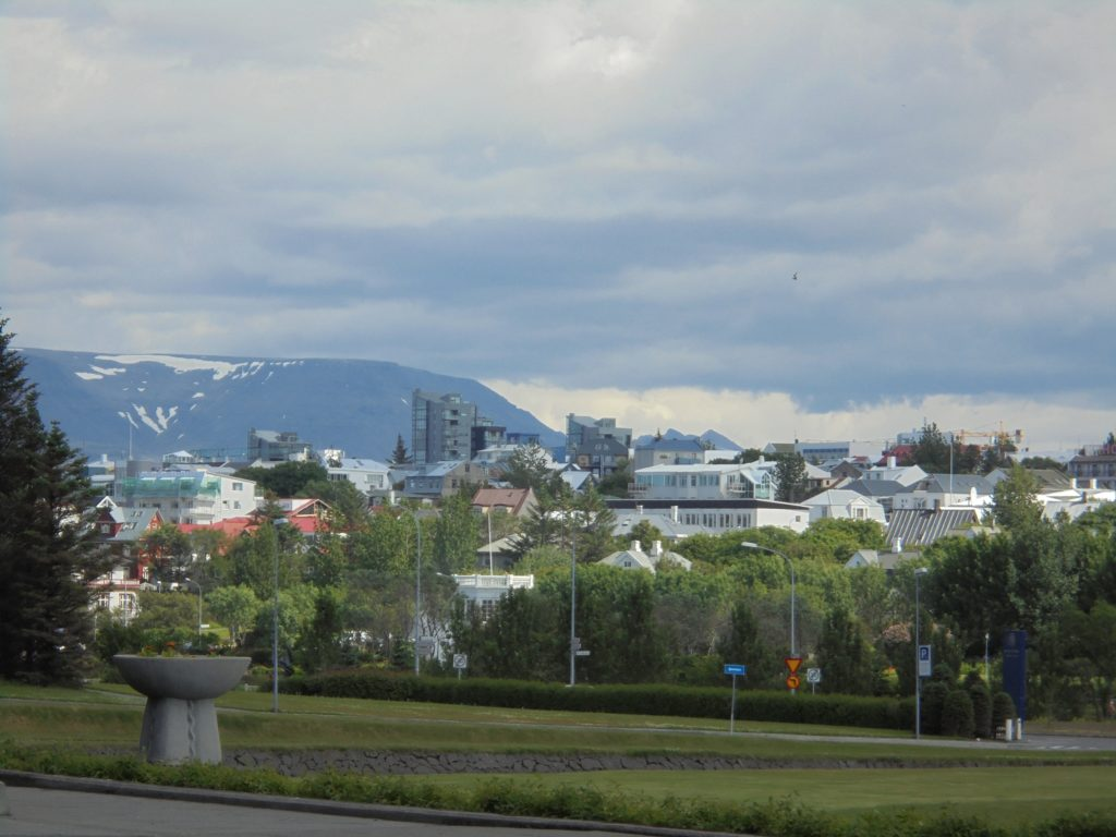 The view of Reykjavík from the University of Iceland's campus.