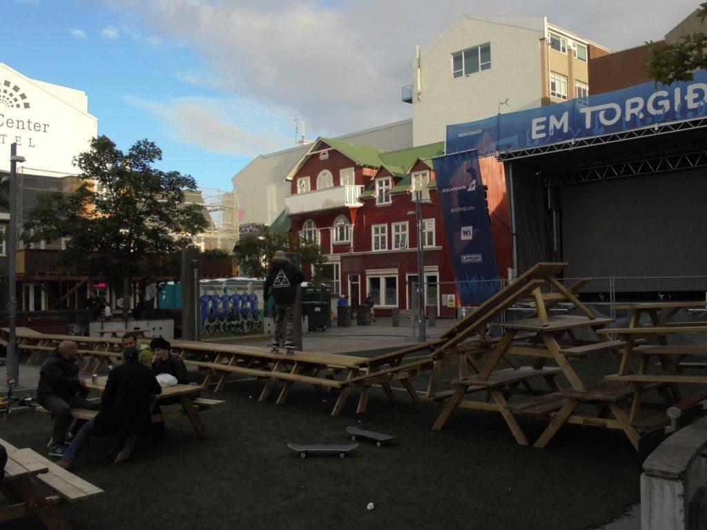 Skate park in Reykjavík.
