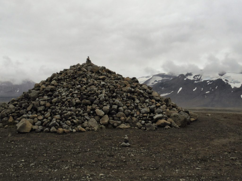 Cairn in Kaldidalur (Cold Valley).