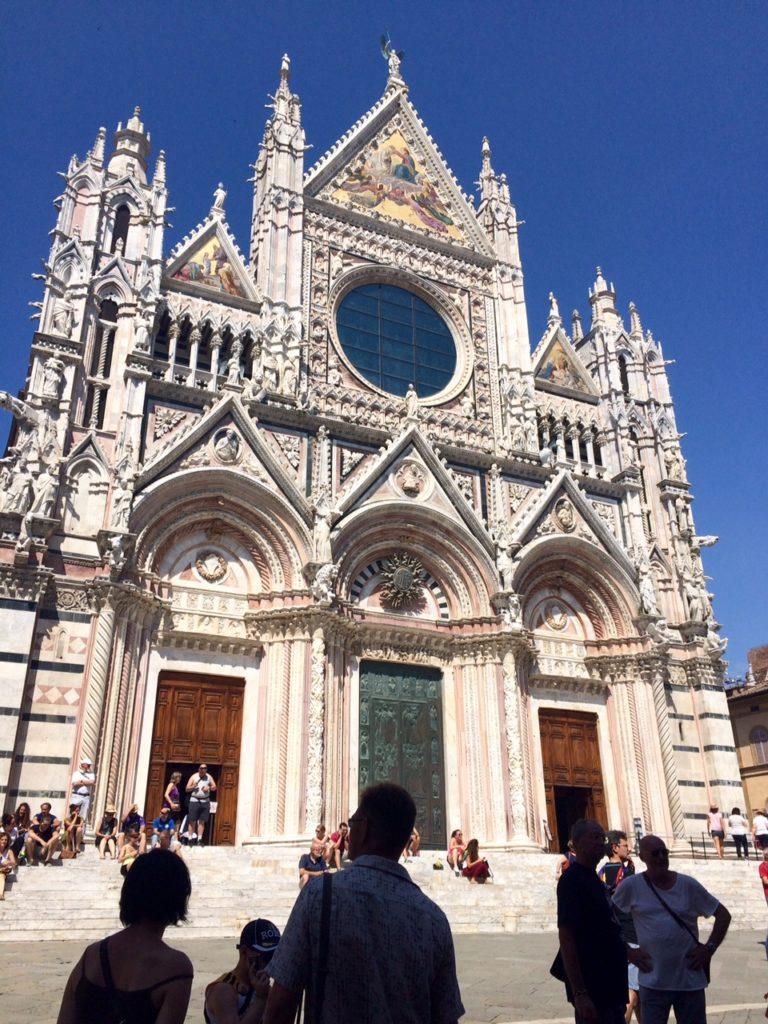 The facade of the Duomo in Siena