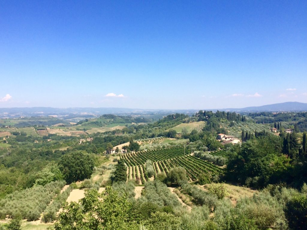A panoramic view that I found when I walked at San Gimignano