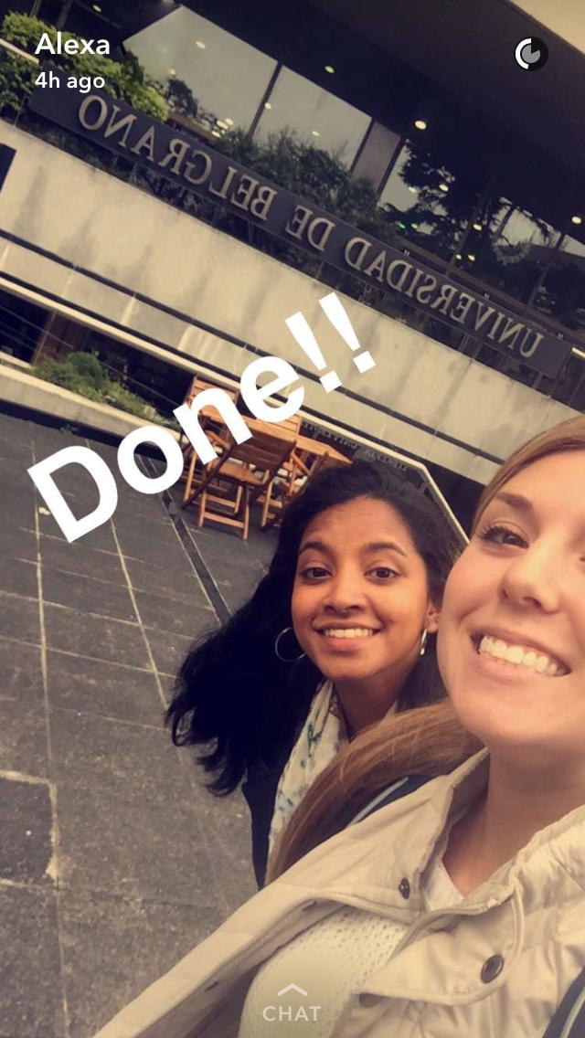 Last selfie in front of La Universidad de Belgrano