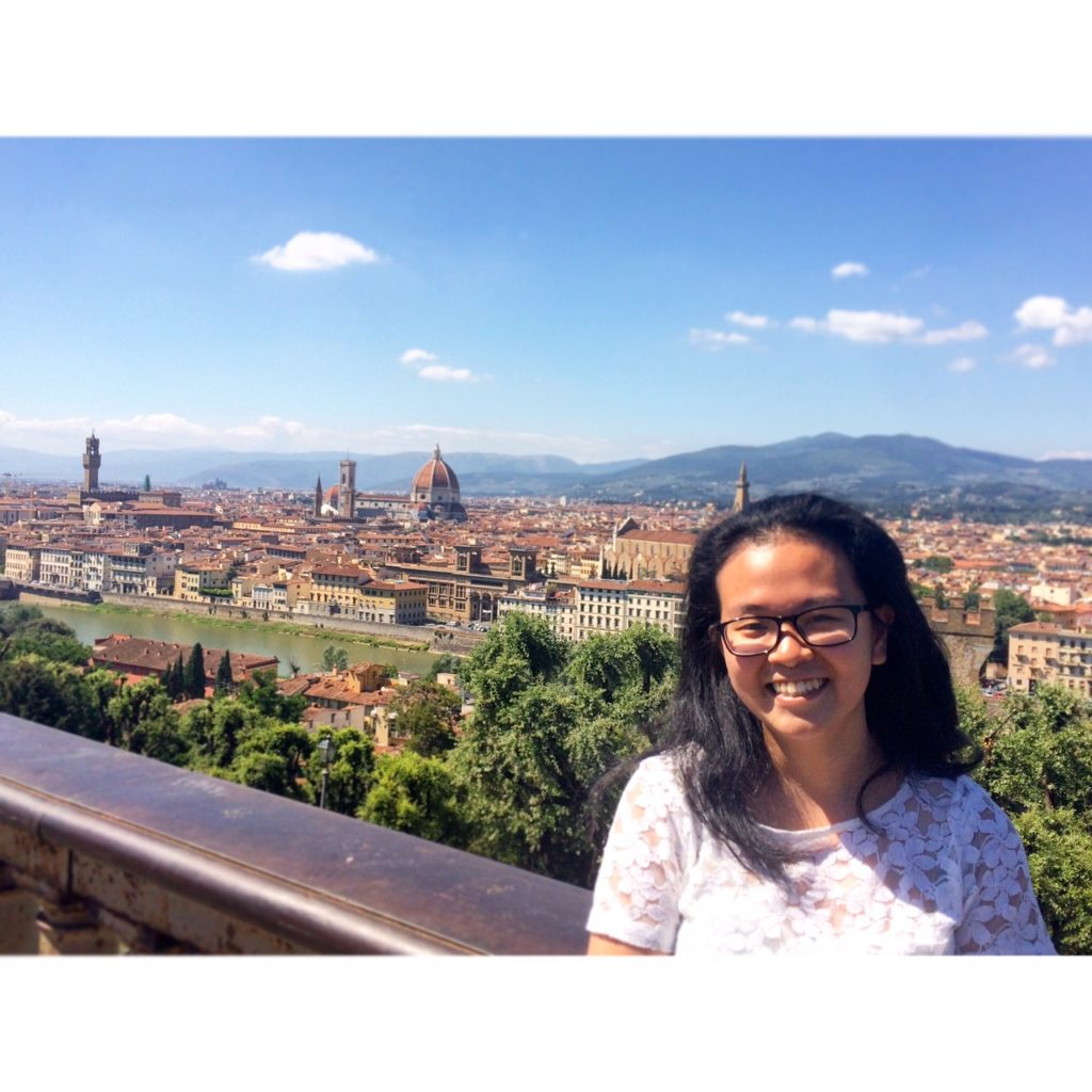 The view from Piazzale Michelangelo in Florence, after climbing what felt like hundreds of steps of staircase