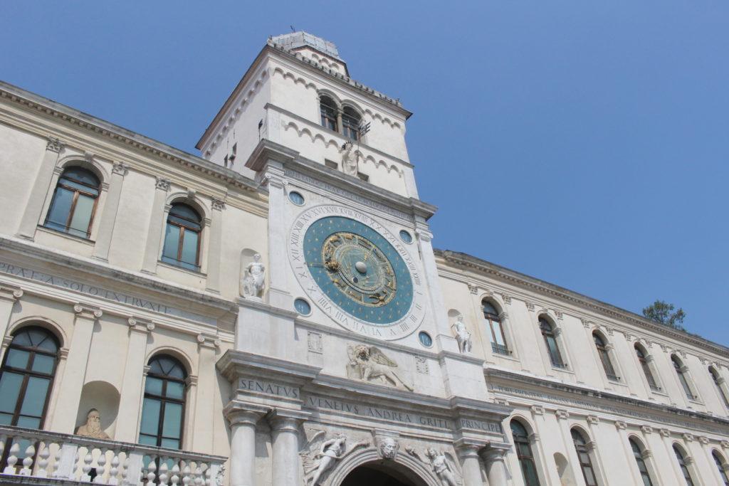 The famous clock tower in Padova, at the Piazza dei Signori