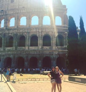 My friend, Mackenzie, and I at the Colosseum