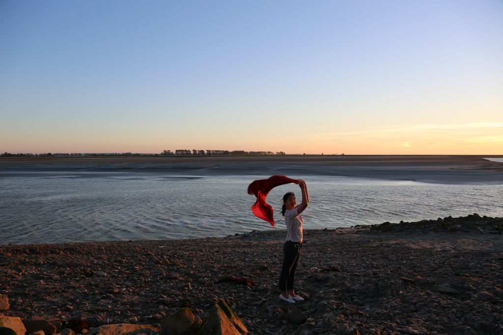 Me in the Twilight of Le Mont Saint-Michel