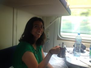 Tea on the train from St. Petersburg