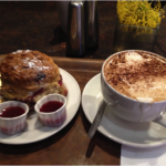 (A scone and cappuccino from Keogh's Café.)